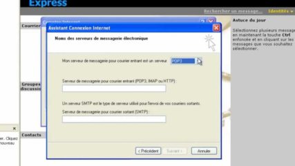 Comment installer outlook express ?